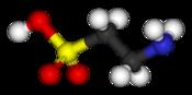 molecule de la taurine
